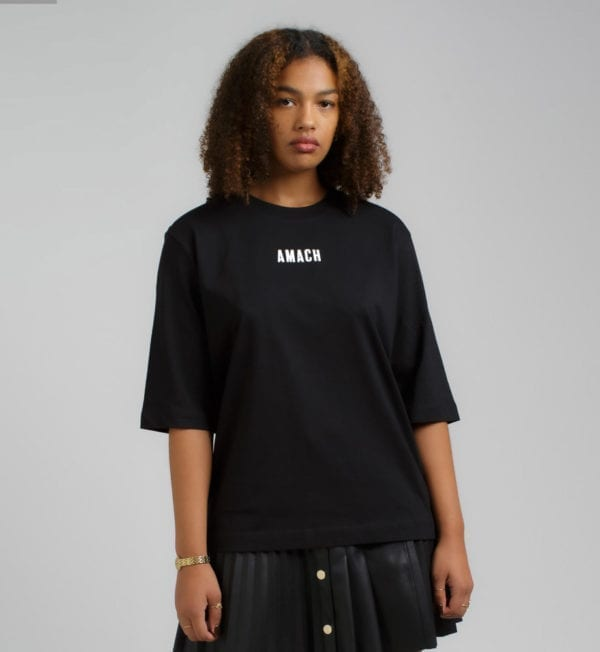 AMACH 09 'Be Yourself' ladies relaxed fit tee - Black