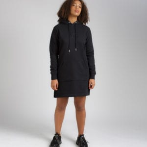 AMACH Black-Symmetry-Hoodie-Dress
